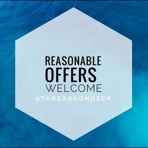 Reasonable offers are welcome!